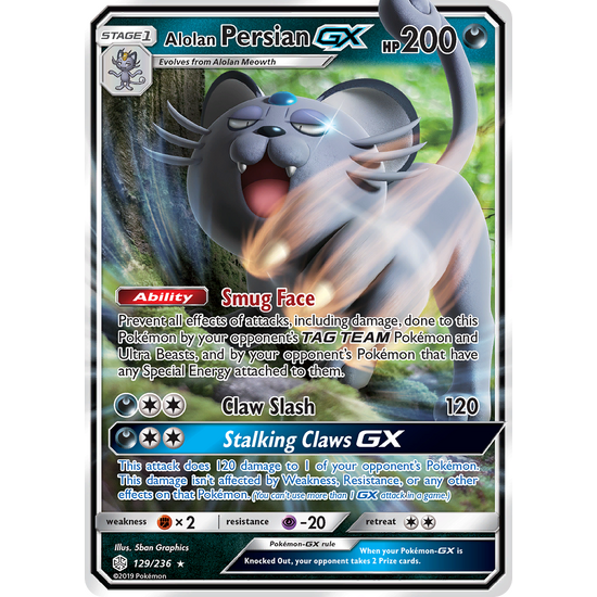 Alolan Persian GX (129/236) Cosmic Eclipse