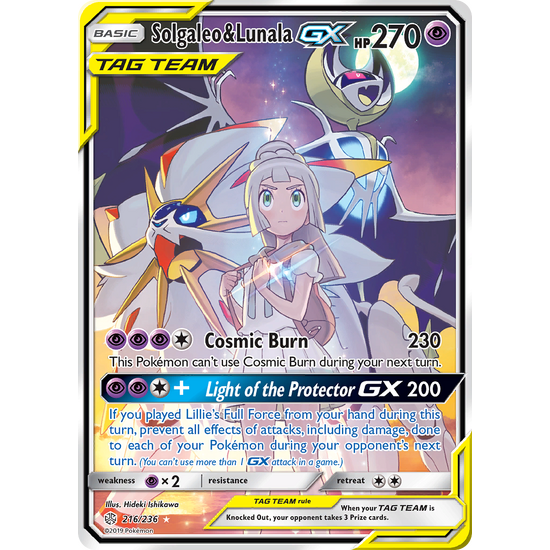 Solgaleo & Lunala-GX Full Art (216/236) Cosmic Eclipse