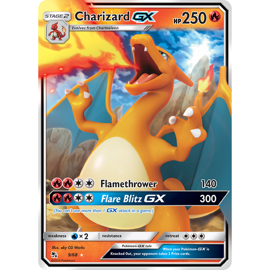 Charizard GX Hidden Fates SM211 (Equiv to 9/68)