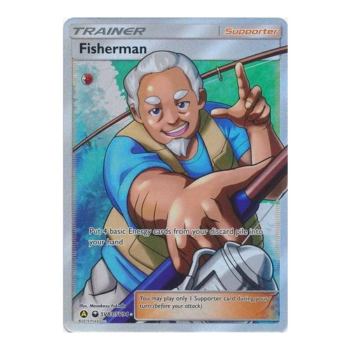 Fisherman Full Art Shiny Vault Hidden Fates (SV83/SV94)
