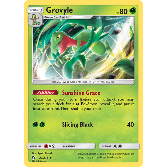 Grovyle (21/214) Lost Thunder