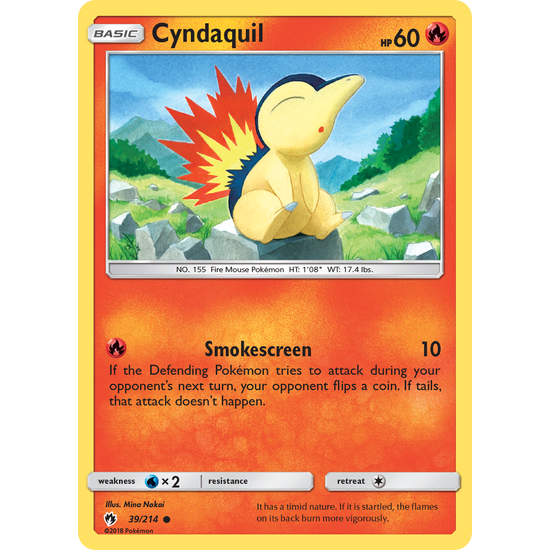 Cyndaquil (39/214) Lost Thunder