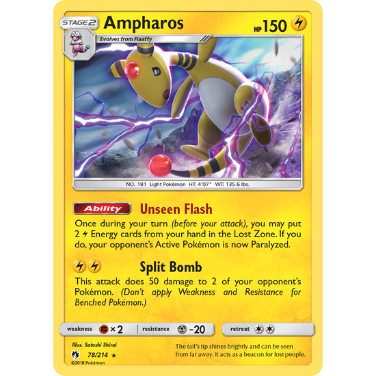 Ampharos (78/214) Lost Thunder