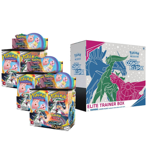 Sun & Moon Cosmic Eclipse 3 X Booster Box + Elite Trainer Box