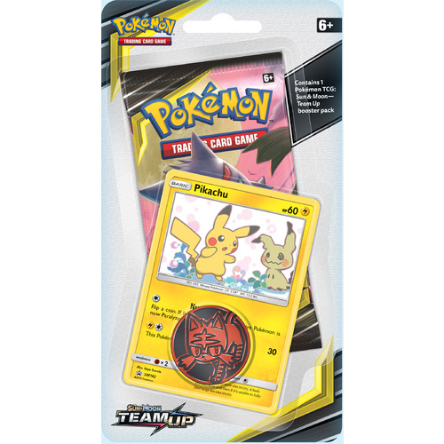 POKEMON TCG Sun & Moon Team Up Checklane Blister - Pikachu