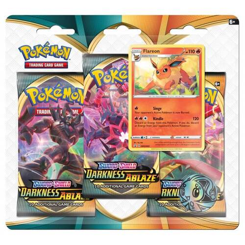 Pre-Order Sword & Shield Darkness Ablaze Three Pack Blister (Random Promo)