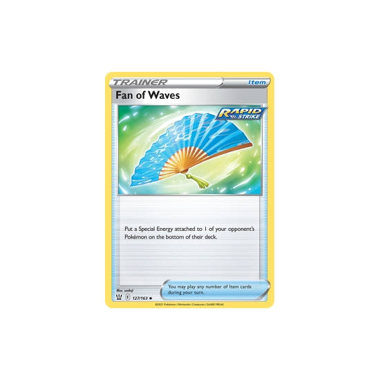 Fan of Waves 127/163 Uncommon Battle Styles