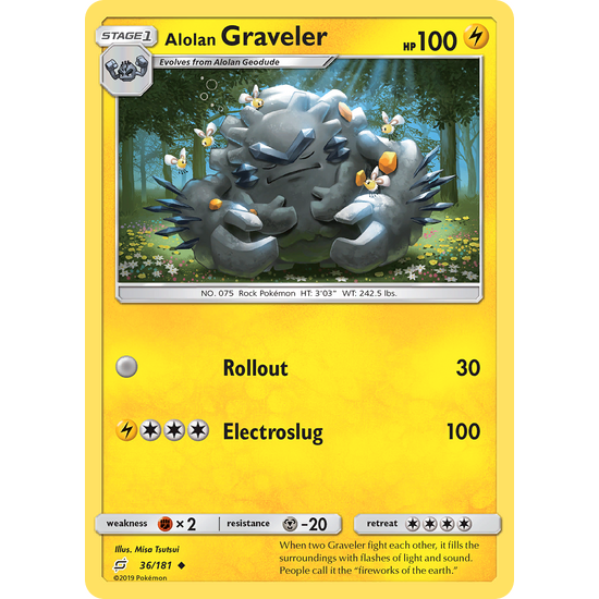 Alolan Graveler (36/181) Team Up