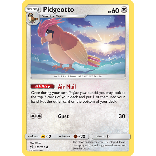 Pidgeotto (123/181) Team Up