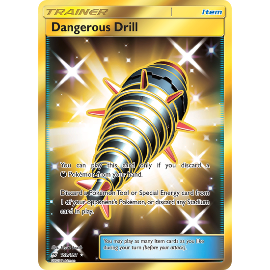 Dangerous Drill (192/181) Secret Hyper Rare Team Up