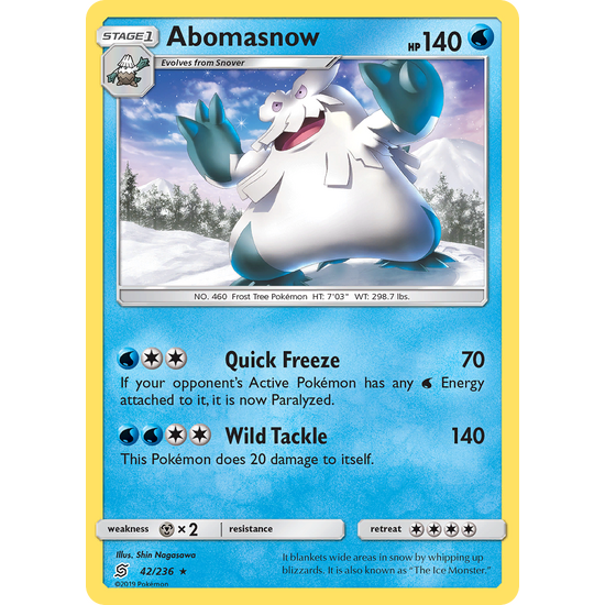 Abomasnow (42/236) Unified Minds