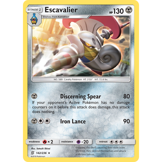 Escavalier (142/236) Unified Minds