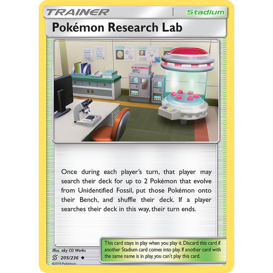 4 X Pokemon Research Lab (205/236) Unified Minds